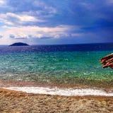 Море и шторм стоковая фотография