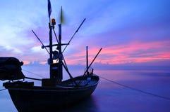 Море и шлюпка Стоковое Изображение
