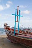 Море и шлюпка Стоковая Фотография