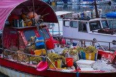 Море и яхты на городе Гаван teritory Фото 2018 перемещения, decemb стоковое фото rf