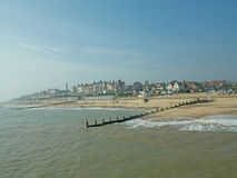 море и southwold Стоковое фото RF
