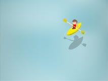 Море, каяк, бирюза, вода, верхняя часть, взгляд, выше, шлюпка, прозрачный, отмелый, воздушная, человек, синь, пол, цвет, среднезе бесплатная иллюстрация
