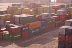 море контейнеров aquaba стоковая фотография