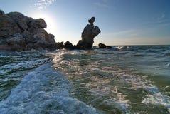 Море Крыма Азова, генералы приставает к берегу Стоковые Фото