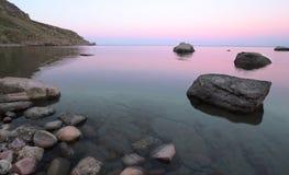 море ландшафта вечера Стоковая Фотография