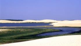 море ландшафта пляжа Стоковые Изображения RF