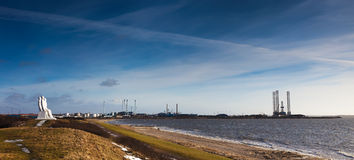 море людей гавани esbjerg Дании Стоковое фото RF