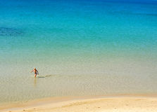 море мальчика предпосылки Стоковое Изображение RF