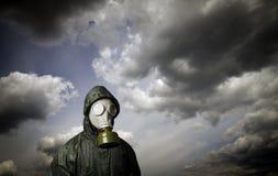 море маски человека газа Тема выживания Стоковое Изображение