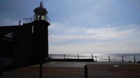 Море маяка в вечере Стоковое Изображение