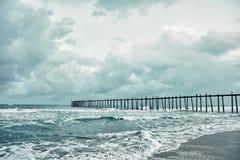 море молы старое излишек бурное стоковые изображения