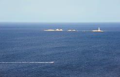 море мотора шлюпки Стоковые Фото