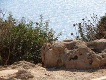 Море над Rosh Hanikra Израилем Стоковое фото RF