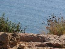 Море над Rosh Hanikra Израилем Стоковое Изображение RF