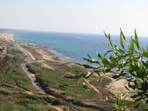 Море над Rosh Hanikra Израилем Стоковые Фотографии RF