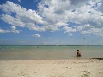 Море Настроение лета, свежий воздух Стоковые Фото