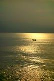 Море на заходе солнца Стоковое Изображение