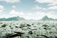 Море наличных денег Стоковое Фото