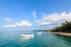 Море на пляже Na Phralan в острове Samui Стоковое Изображение RF
