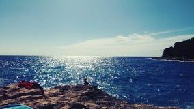 Море на солнце стоковые изображения rf