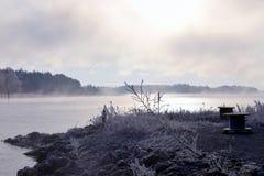 Море на холодном утре зимы Стоковая Фотография RF