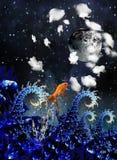 море ночи иллюстрация вектора