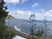 Море, облака, голубое небо стоковое фото rf