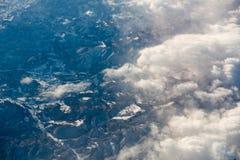 Море облаков в небе стоковые изображения rf