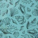 Море обстреливает картину эскиза на бумажной предпосылке иллюстрация штока