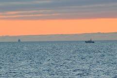 Море облаков над океаном Стоковое Изображение RF