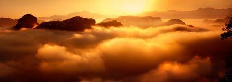 Море облаков Стоковые Фотографии RF