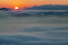 Море облаков стоковые изображения rf