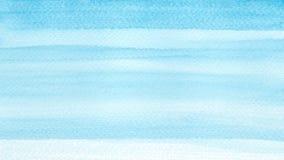 Море океана или небесно-голубая лазурная предпосылка конспекта акварели бирюзы Горизонтальное заполнение градиента watercolour Те стоковые фото