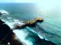 Море осени Deark, остатки в индюке в осени Стоковое Изображение
