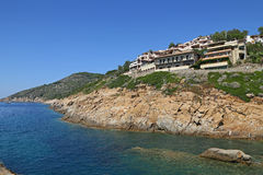 Море острова Giglio - Campese - Италии Стоковое Изображение