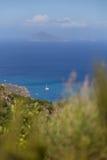 Море островов Eolie Aeolie Стоковые Изображения