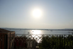 Море от верхней части (Ortigia/Syracuse) стоковые изображения rf