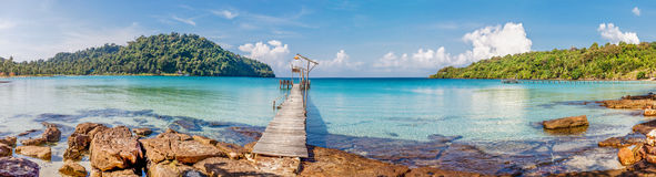 море панорамы тропическое стоковое изображение