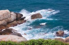 море пейзажа песка изображения пляжа горизонтальное Стоковая Фотография