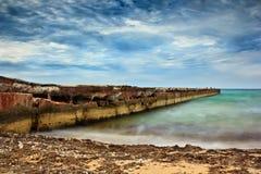 Море перед штормом Стоковое Изображение