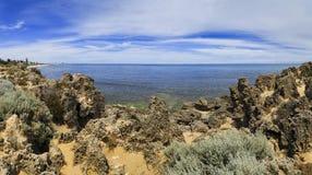 Море Перта трясет панораму дня Стоковое Изображение RF