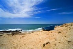 море песка океана пляжа Стоковое Изображение RF