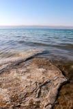 море песка соли кристаллов береговой линии мертвое Стоковые Фото