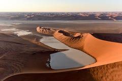 Море песка Namib - Намибия Стоковая Фотография RF