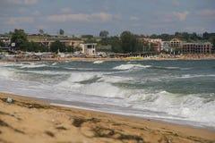 Море, песок, волна, год 2014 Стоковое Изображение