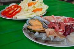 море петрушки еды рыб зажаренное в духовке плитой Стоковая Фотография RF