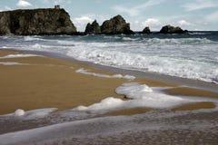 море пляжа черное Стоковое Изображение RF