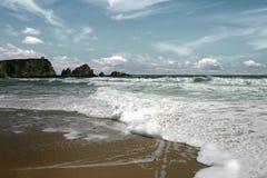 море пляжа черное Стоковые Изображения RF