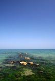 море пляжа черное Стоковая Фотография