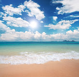море пляжа Стоковые Фото